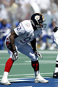 Pittsburgh Steelers linebacker Jason Gildon in the 2003 Pro Bowl, the NFL All-Star Game at Aloha Stadium on 02/02/2003. The AFC intercepted 6 passes to beat the NFC (45 to 20) for the 3rd straight year. ©Paul Anthony Spinelli