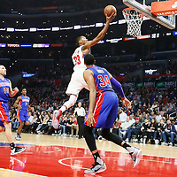 07 November 2016: Los Angeles Clippers forward Wesley Johnson (33) goes for the layup during the LA Clippers 114-82 victory over the Detroit Pistons, at the Staples Center, Los Angeles, California, USA.