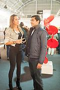 JOSEFIN ELFNER; PAOLO EAPEN, 2013 London Art Fair vip private view.  Business Design Centre, Upper Street, London, 15 January 2013