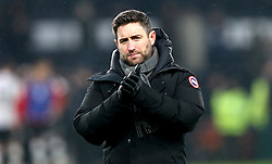 Bristol City head coach Lee Johnson - Mandatory by-line: Robbie Stephenson/JMP - 11/02/2017 - FOOTBALL - iPro Stadium - Derby, England - Derby County v Bristol City - Sky Bet Championship