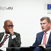 20160615 - Brussels , Belgium - 2016 June 15th - European Development Days - Digital technologies contribution to the Sustainable Development Goals - Bob Collymore , CEO , Safaricom and Andrus Ansip , Vice President for the Digital Single Market , European Commission © European Union