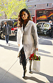 Model Camila Alves arrives at downtown hotel