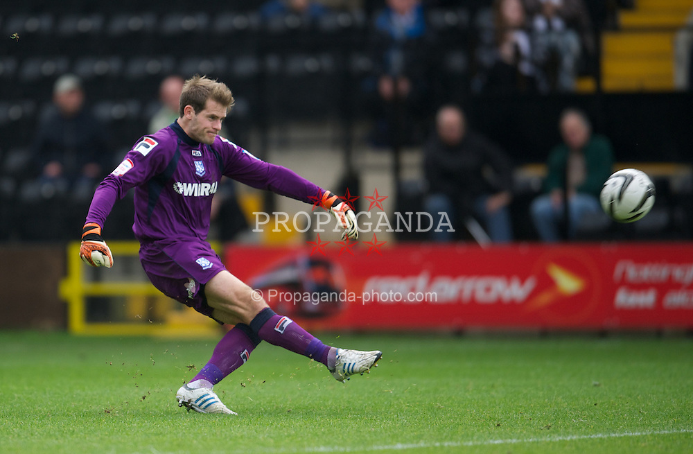 NOTTINGHAM, ENGLAND - Saturday, October 6, 2012: Tranmere Rovers' goalkeeper Owain Fon Williams in action against Notts County during the Football League One match at Meadow Lane. (Pic by David Rawcliffe/Propaganda)