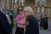 FIONA LADY MONTAGU, Service of Thanksgiving for the life of Edward Baron Montagu of Beaulieu. St. Margaret's Westminster. London. 20 January 2016