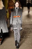 Sara Blomqvist walks down runway for F2012 Rag & Bone collection in Mercedes Benz fashion week in New York on Feb 10, 2012 NYC