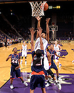 Kansas State forward Shana Wheeler (30) scores over Auburn defender Jordan Greenleaf (21), during first half action at Bramlage Coliseum in Manhattan, Kansas, March 25, 2007.  Kansas State defeated Auburn in the Elite Eight of the WNIT 67-54.