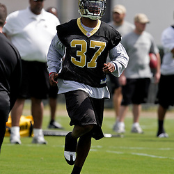 08 May 2009: Saints fourth-round selection safety Chip Vaughn (37) from Wake Forest participates in drills during the New Orleans Saints  rookie minicamp held at the team's practice facility in Metairie, Louisiana.