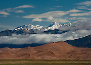 A Spring storm clears over the Great Sand Dunes and Crestone Peaks, Colorado