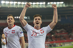 March 21, 2019 - Vienna, Austria - Krzysztof Piatek of Polanf celebrates during the UEFA European Qualifiers 2020 match between Austria and Poland at Ernst Happel Stadium in Vienna, Austria on March 21, 2019  (Credit Image: © Andrew Surma/NurPhoto via ZUMA Press)