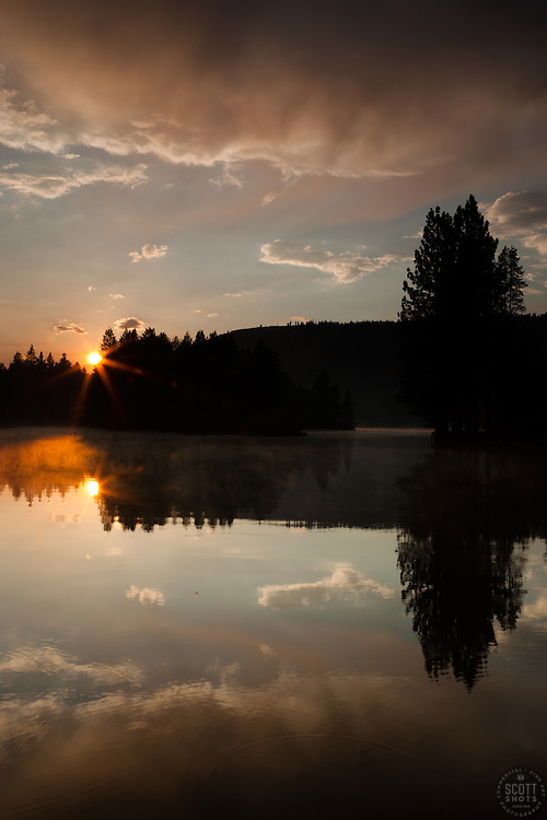 """""""Donner Lake Sunset 11"""" - This sunset was photographed at the East end of Donner Lake, Truckee."""