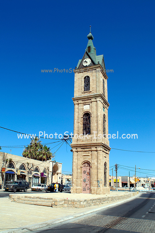 The Old clock tower in Jaffa, Clock Square, built in 1906 in honor of Sultan Abed al-Hamid II's 25th anniversary, became the center of Jaffa, and it is centered between Jaffa's markets.