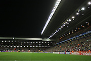 A general view of Anfield Stadium during the Champions League Round of 16, Second Leg match between Liverpool and Real Madrid at Anfield on March 10, 2009 in Liverpool, England