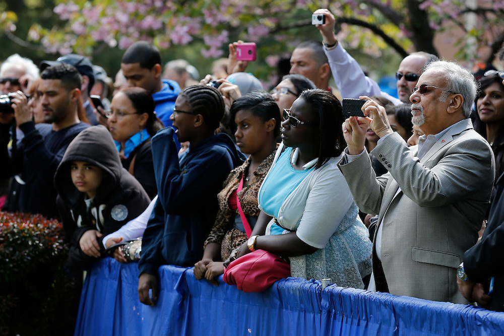 Family members wait for their graduates at the University of Rochester's Commencement Ceremony on Sunday, May 18, 2014.