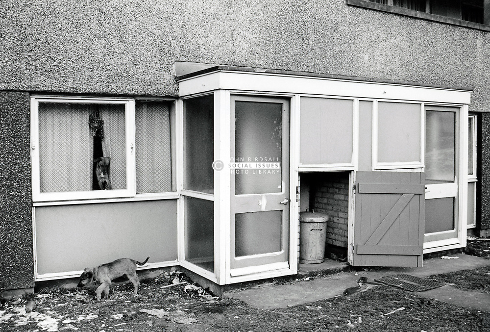 Run down housing, Crabtree Farm housing estate, Bulwell, Nottingham UK 1986