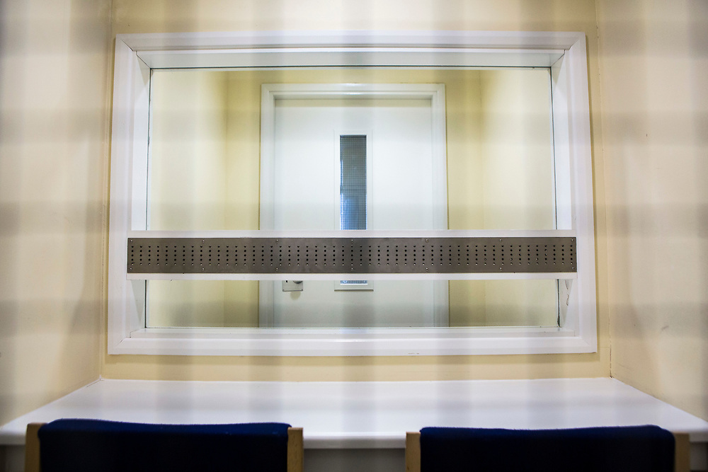 One of the closed visit rooms inside the visit centre at HMP/YOI Portland, a resettlement prison with a capacity for 530 prisoners.