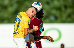 Aljoša Matko of Bravo vs Stanley Amuzie of Aluminij during football match between NK Bravo and NK Aluminij in 5th Round of Prva liga Telekom Slovenije 2019/20, on August 9, 2019 in Sports park ZAK, Ljubljana, Slovenia. Photo by Vid Ponikvar / Sportida