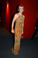 "Fashion designer LINDKA CIERACH  at the 10th annual British Red Cross London Ball.  This years ball theme was Indian based - ""Yaksha - Yakshi: Doorkeepers to the Divine"" and was held at The Room, Upper Ground, London on 1st December 2004.  Proceeds from the ball will aid vital humanitarian work, including HIV/AIDS projects that the Red Cross supports in the UK and overseas.<br />