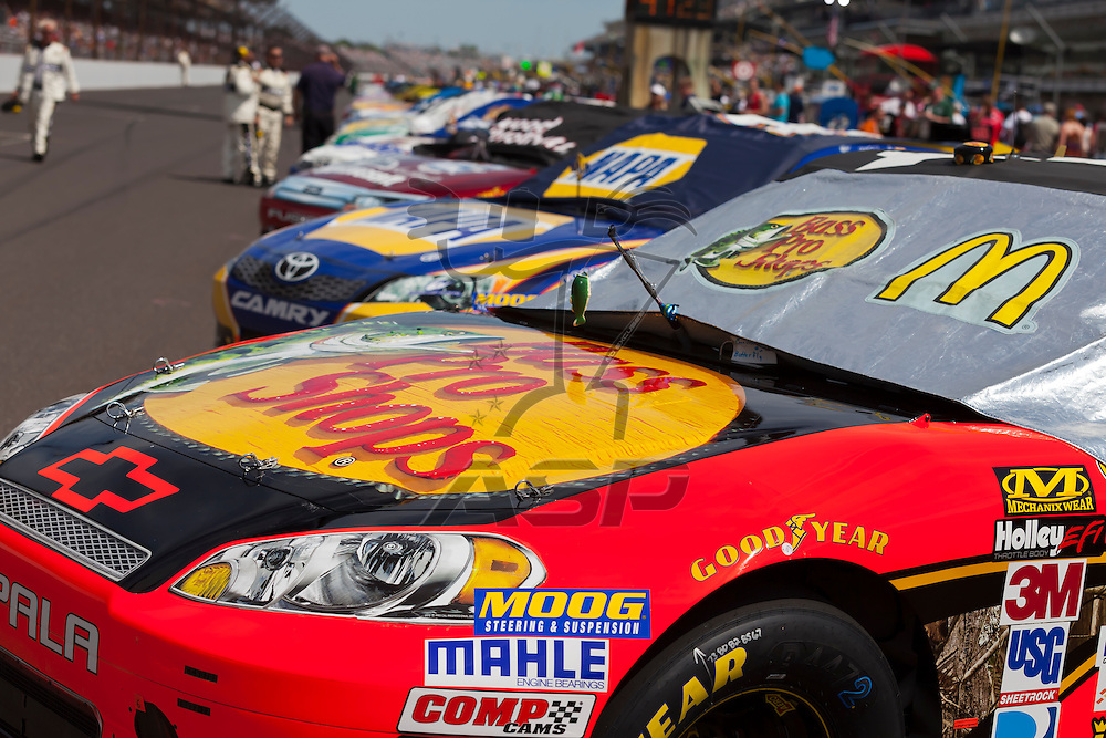 INDIANPOLIS, IN - JUL 29, 2012:  The NASCAR Sprint Cup Series take to the track for the Curtiss Shaver 400 presented by Crown Royal at the Indianapolis Motor Speedway in Indianapolis, IN.