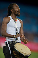 LOFTUS VERSVELD , SOUTH AFRICA - February 14: Drummer band during the Vodacom Super Rugby match between the Bulls and the Stormers played at Loftus Versveld, Pretoria, South Africa. (Photo by Anton Geyser/ Rugby 15)