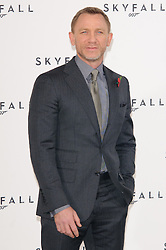 Daniel Craig poses for photographers at the photocall for the 23rd James Bond movie 'Skyfall', London, Thursday November 3, 2011. Photo By i-Images<br />