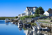 Charming canal waterfront house, West Dennis, Cape Cod, massachusetts, USA.