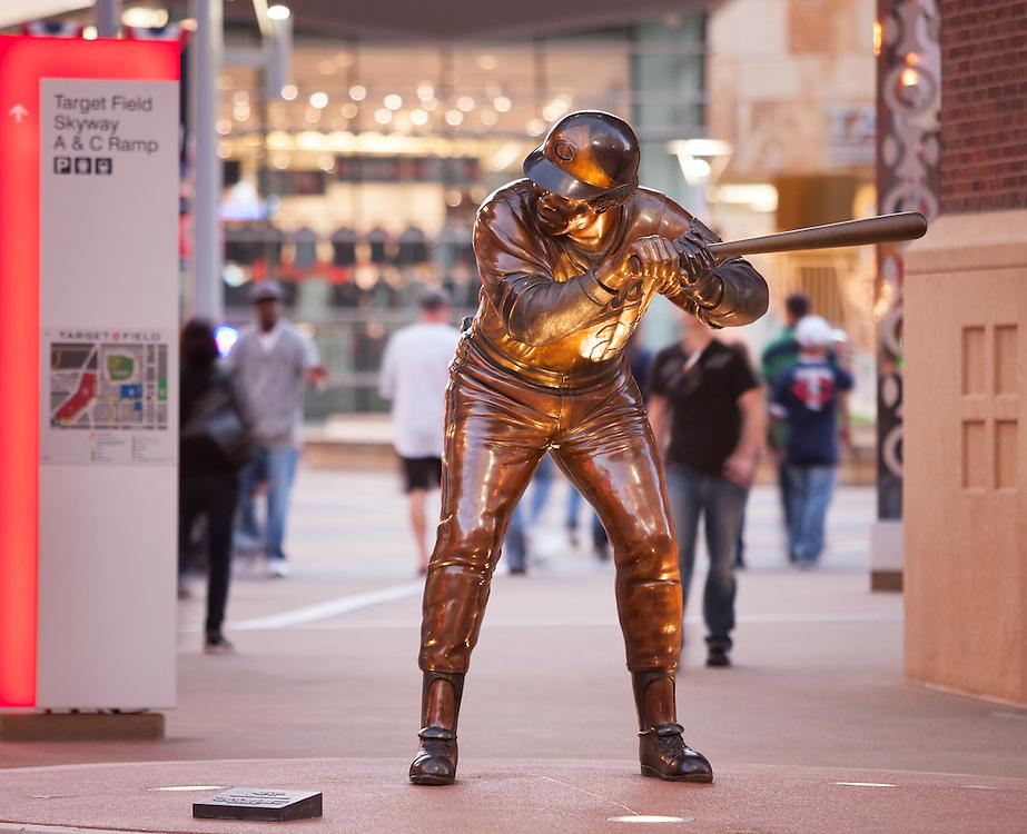Rod Carew statue at Target Field home of the Minnesota Twins in Minneapolis, Minnesota.