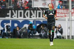 21.03.2015, RheinEnergieStadion, Köln, GER, 1. FBL, 1. FC Köln vs SV Werder Bremen, 26. Runde, im Bild David Selke (SV Werder Bremen #27) beim Torjubel nach dem Treffer zum 1:0 // during the German Bundesliga 26th round match between 1. FC Cologne and SV Werder Bremen at the RheinEnergieStadion in Köln, Germany on 2015/03/21. EXPA Pictures © 2015, PhotoCredit: EXPA/ Eibner-Pressefoto/ Schüler<br /> <br /> *****ATTENTION - OUT of GER*****