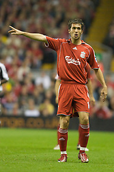 LIVERPOOL, ENGLAND - WEDNESDAY, SEPTEMBER 20th, 2006: Liverpool's Luis Garcia in action against Newcastle United during the Premiership match at Anfield. (Pic by David Rawcliffe/Propaganda)