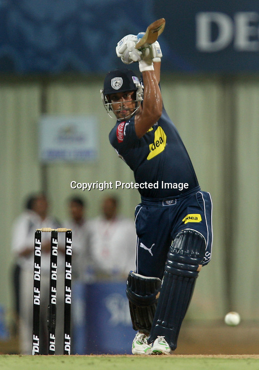 Deccan Chargers Batsman Monish Misra Hit The Shot Against  Mumbai Indians During The Deccan Chargers vs Mumbai Indians, 25th Twenty20 match Indian Premier League- 2009/10 season Played at Dr DY Patil Sports Academy, Mumbai 28 March 2010 - day/night (20-over match)
