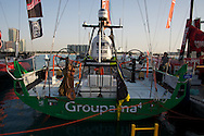 13.01.2012, Abu Dhabi. Volvo Ocean Race, boat of groupama sailing team, 2nd in abu dhabi inport race