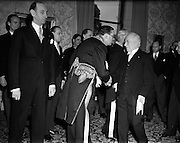 01/01/1953<br /> 01/01/1953<br /> 01 January 1953<br /> The Diplomatic Corps in Ireland call on President Sean T. O'Kelly at Aras an Uachtarain for the New Years Greeting ceremony.