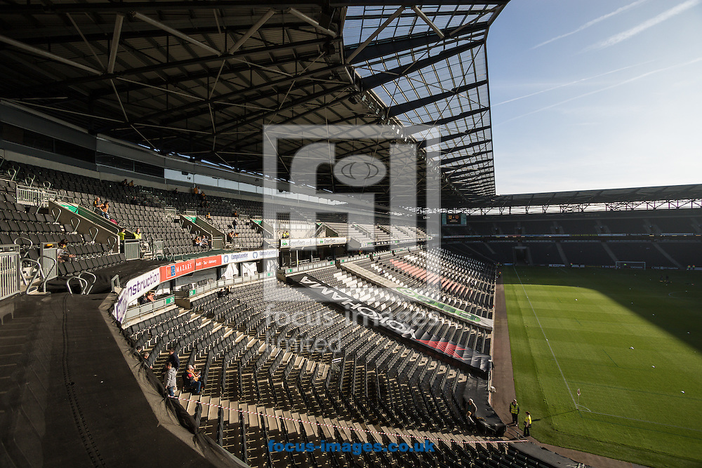 General view of stadium:mk, home of Milton Keynes Dons Football Club, ahead of the Sky Bet Championship match against Hull City at stadium:mk, Milton Keynes<br /> Picture by David Horn/Focus Images Ltd +44 7545 970036<br /> 31/10/2015