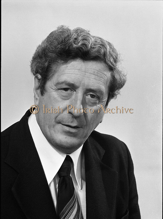 Garret Fitzgerald at Leinster House.   (M68).1979..25.04.1979..04.25.1979..25th April 1979..Fine Gael Leader , Dr Garret Fitzgerald T.D.,pictured at his office in Leinster House,Dublin.