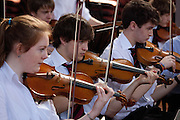 Sheldonian Theatre Concert, Magdalen College School, 24th March, 2011. First Orchestra, Choral Society, Junior School Choir and String Orchestra, Junior School Choir and Parents' Choir.