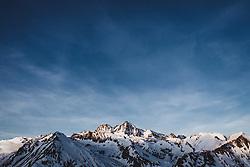 THEMENBILD - Übersicht auf den verschneiten Grossglockner Gipfel (3.798 m), Kals am Großglockner, Österreich am Donnerstag, 21. März 2018 // Overview of the snowy summit of Grossglockner (3,798 m). Thursday March 21, 2018 in Kals am Grossglockner, Austria. EXPA Pictures © 2018, PhotoCredit: EXPA/ Johann Groder