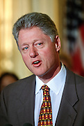 President Bill Clinton appoints Bill Lann Lee acting Civil Rights Director December 15, 1997 at the White House in Washington, DC.