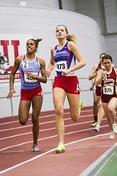 Boston University Multi-team indoor track & field, women 400 meter heat 2, UMass Lowell 473