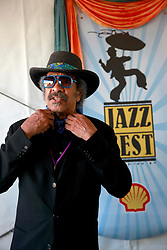 05 May 2013. New Orleans, Louisiana,  USA. .New Orleans Jazz and Heritage Festival. JazzFest..Music legend Allen Toussaint..Photo; Charlie Varley.