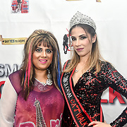 Samina Mughal and Tiana Sidor backstage at SMGlobal Catwalk - London Fashion Week F/W19 at Clayton Crown Hotel,  Cricklewood Broadway, on 1st March 2019, London, UK.