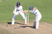 Harry Swindells batting during the Specsavers County Champ Div 2 match between Glamorgan County Cricket Club and Leicestershire County Cricket Club at the SWALEC Stadium, Cardiff, United Kingdom on 17 September 2019.