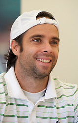 LIVERPOOL, ENGLAND - Thursday, June 16, 2011: Fernando Gonzalez (CHI) at a press conference day one of the Liverpool International Tennis Tournament at Calderstones Park. (Pic by David Rawcliffe/Propaganda)