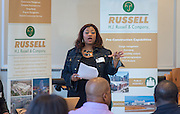 HJ Russell & Company representatives meet with subcontractors at the Hattie Mae White building to discuss potential opportunities during the rebuilding of Davis High School, October 29, 2014.