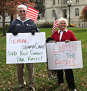 at a Capitol Hill rally asking Senators to respect the will of the people in the Lame Duck Session sponsored by Americans for Prosperity on Novembee 15, 2010.  Photograph by Dennis Brack