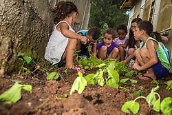 Alunos da escola Cara Melada cultivando a sua própria horta fertilizada pelo húmus produzido em suas composteiras, dentro do programa de compostagem desenvolvido pela Prefeitura de Canoas. FOTO: Jefferson Bernardes/ Agência Preview