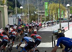 22.04.2019, Kufstein, AUT, Tour of the Alps, 1. Etappe, Kufstein - Kufstein, 144km, im Bild // das Peloton at Kufstein during the 1st Stage of the Tour of the Alps Cyling Race from Kufstein to Kufstein (144km) in in Kufstein, Austria on 2019/04/22. EXPA Pictures © 2019, PhotoCredit: EXPA/ Reinhard Eisenbauer