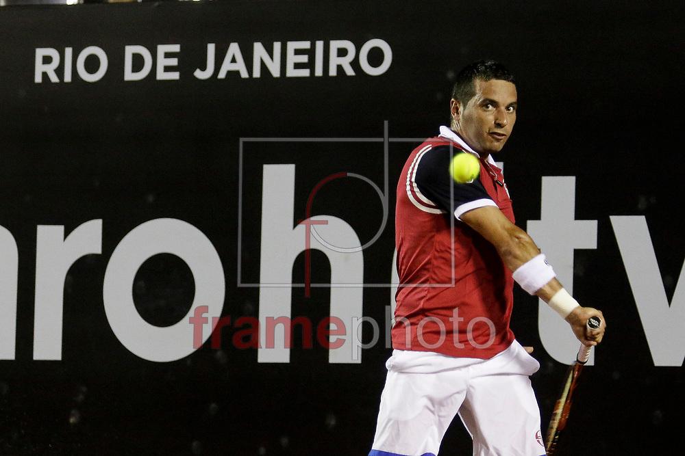 # na segunda rodada do torneio ATP World Tour 500l nas instalações do Joquei, na bairro da Gávea, zona sul da cidade.. A categoria ATP World Tour 500 é composta por 11 eventos.