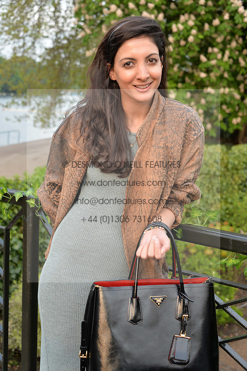 The HON.NADIA MANZOOR at a party to launch the Taylor Morris Explorer Collection held at the Serpentine Lido, Hyde Park, London on 11th May 2016.