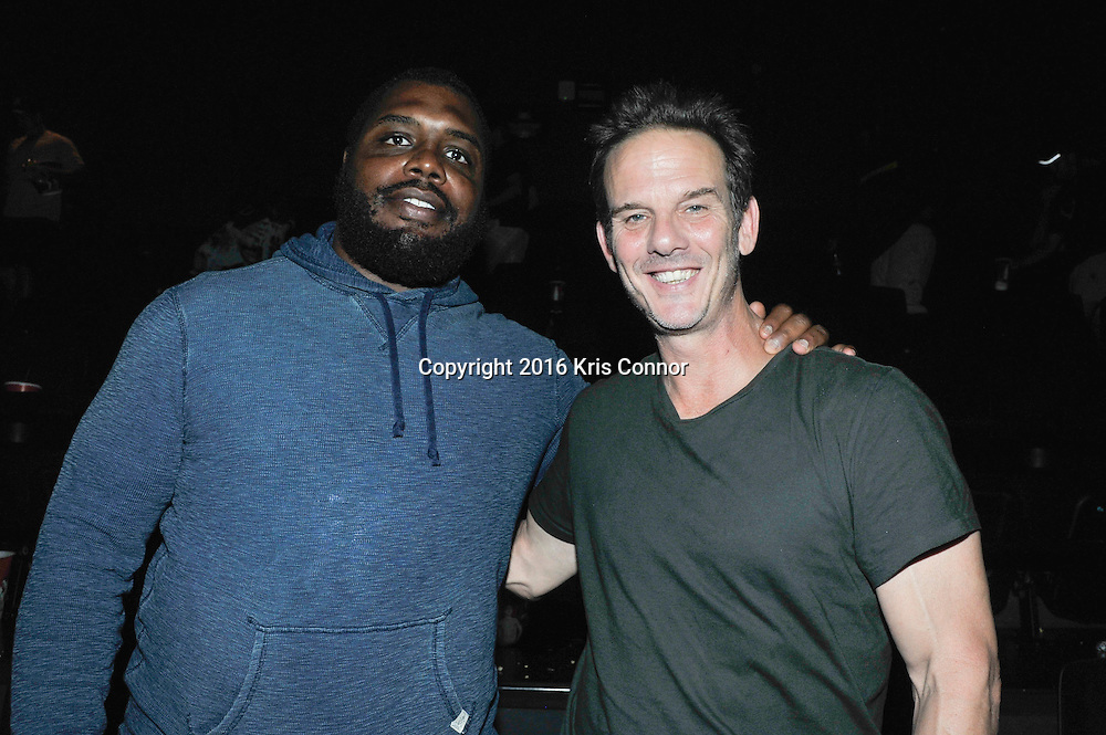 RICHMOND, VA - AUG 13: Washington Redskins player Chris Baker and director Peter Berg and Redskins coach Jay Gruden pose for a photo during a special screening for the Washington Redskins football team of Lions gate Entertainment's new movie Deepwater Horizon at Bow Tie Cinema on August 13, 2016 in Richmond, Va. (Photo by Kris Connor for Lions Gate Entertainment)