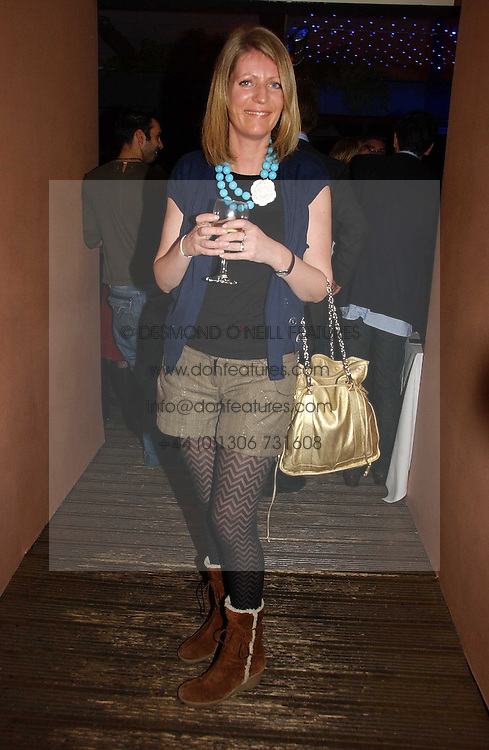 ALICE SYKES at a party to celebrate the publication of Tom Sykes's book 'What Did I Do Last Night?' held at Centuary, Shaftesbury Avenue, London on 16th January 2007.<br />