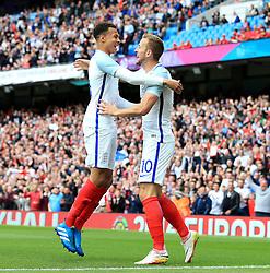 Harry Kane of England celebrates after scoring his sides first goal   - Mandatory byline: Matt McNulty/JMP - 07966386802 - 22/05/2016 - FOOTBALL - Etihad Stadium -Manchester,England - England v Turkey - International Friendly